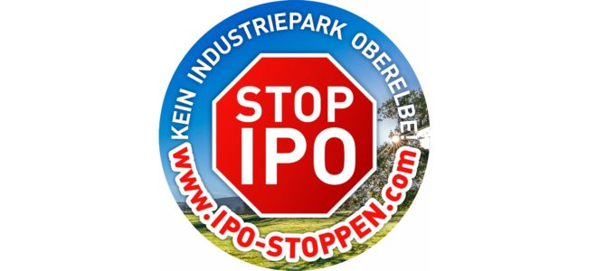 Demonstration gegen den geplanten IndustriePark Oberelbe