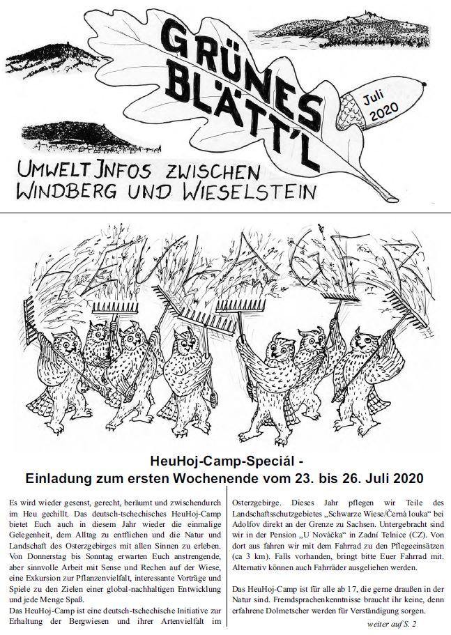 Grünes Blätt'l 07/2020