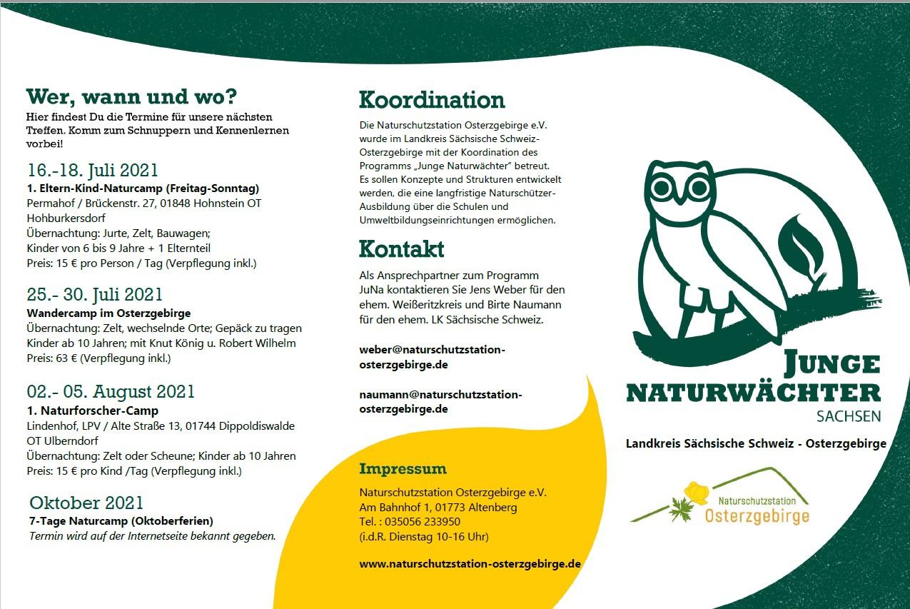 Sommercamps für Junge Naturwächter