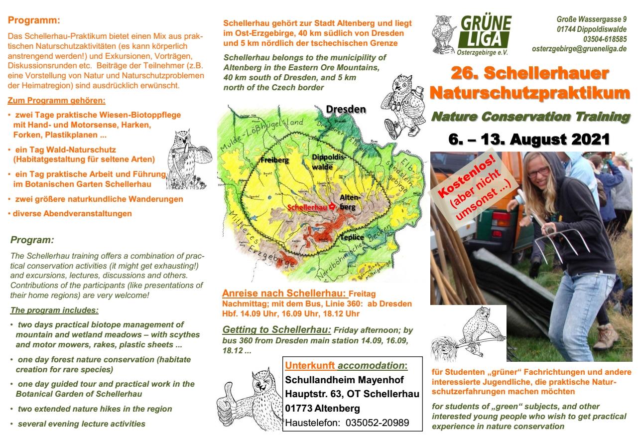 Schellerhauer Naturschutzpraktikum 2021 schon ausgebucht