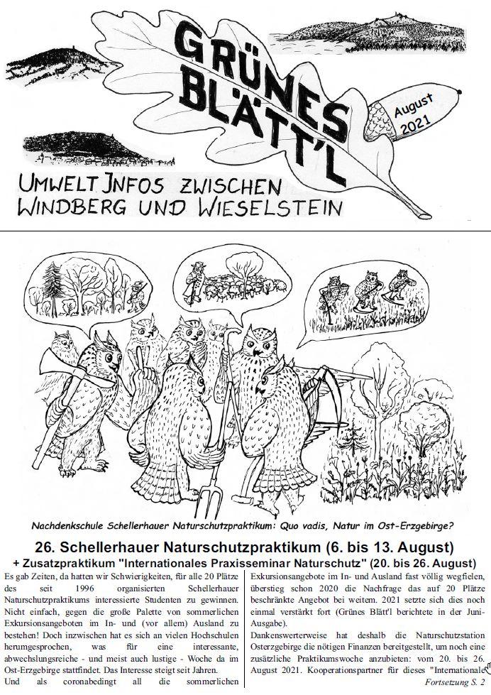 Grünes Blätt'l 08/2021
