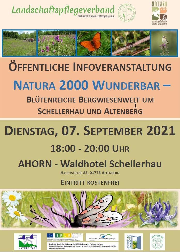 Öffentliche Infoveranstaltung Natura 2000 Wunderbar – Blütenreiche Bergwiesenwelt um Schellerhau und Altenberg
