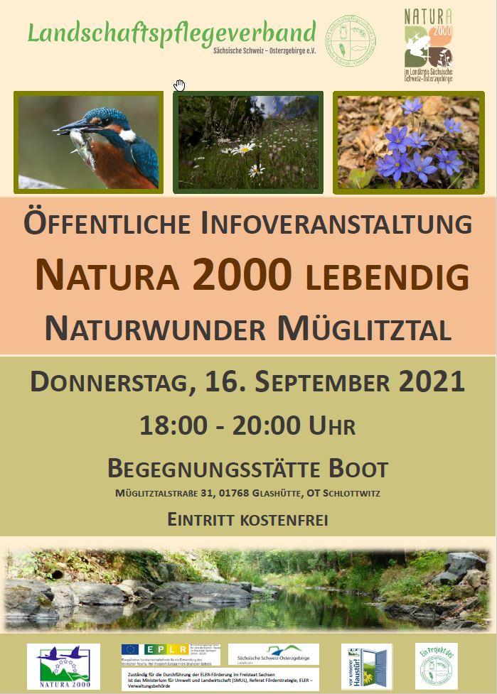 Öffentliche Infoveranstaltung Natura 2000 lebendig – Naturwunder Müglitztal