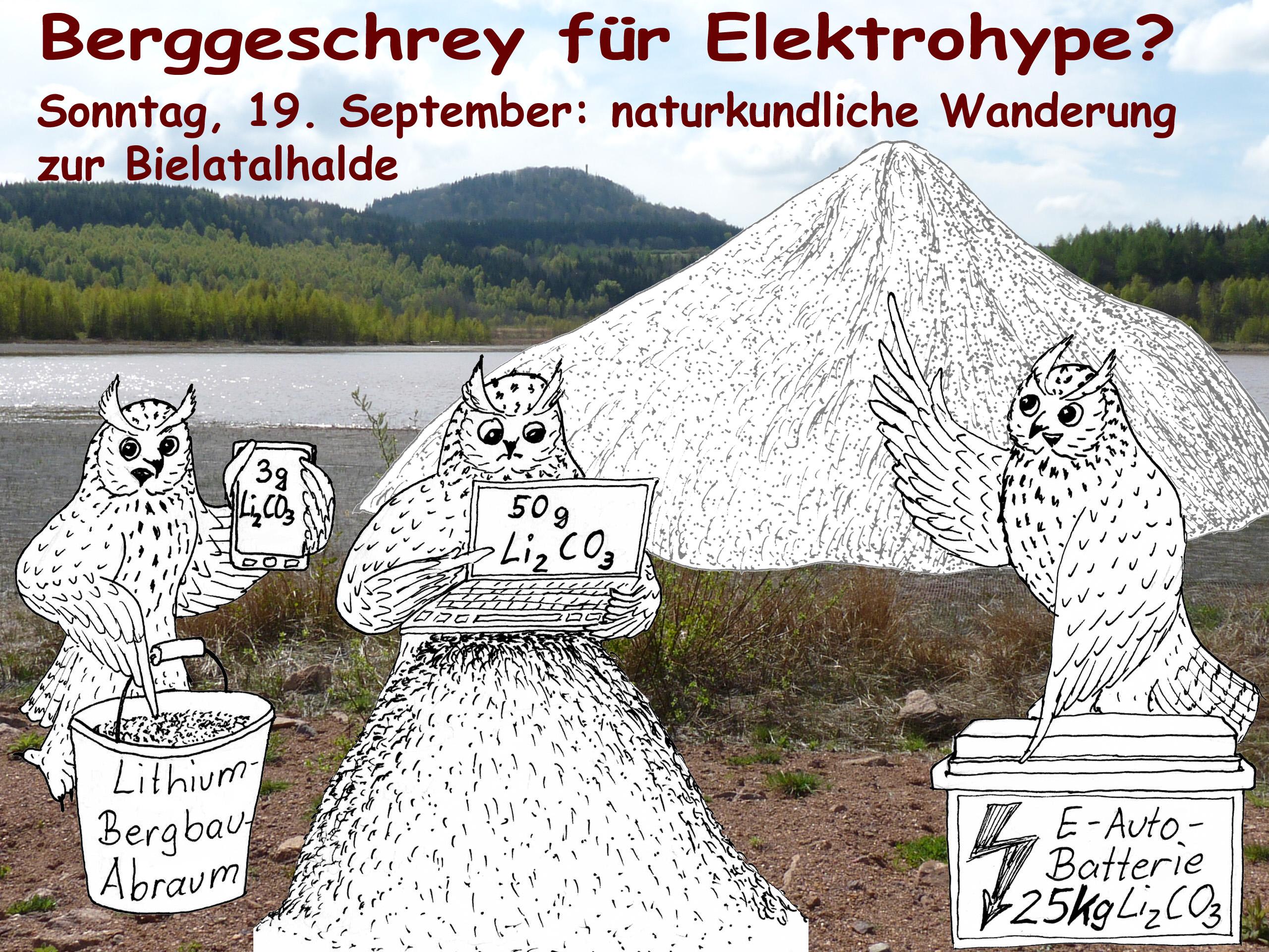 Naturkundliche Wanderung zur Spülkippe Bielatal mit Diskussion zu den aktuellen Lithium-Bergbauplänen im Raum Altenberg